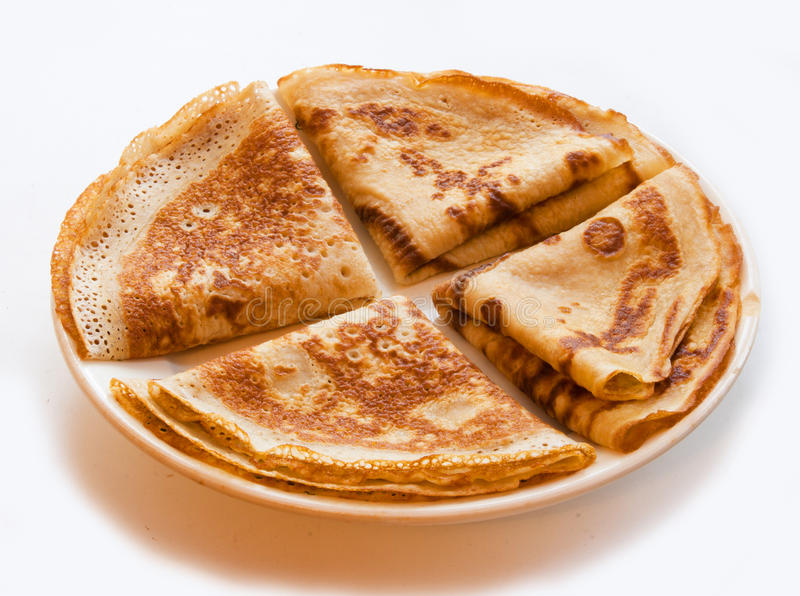 The four pancakes stock photography
