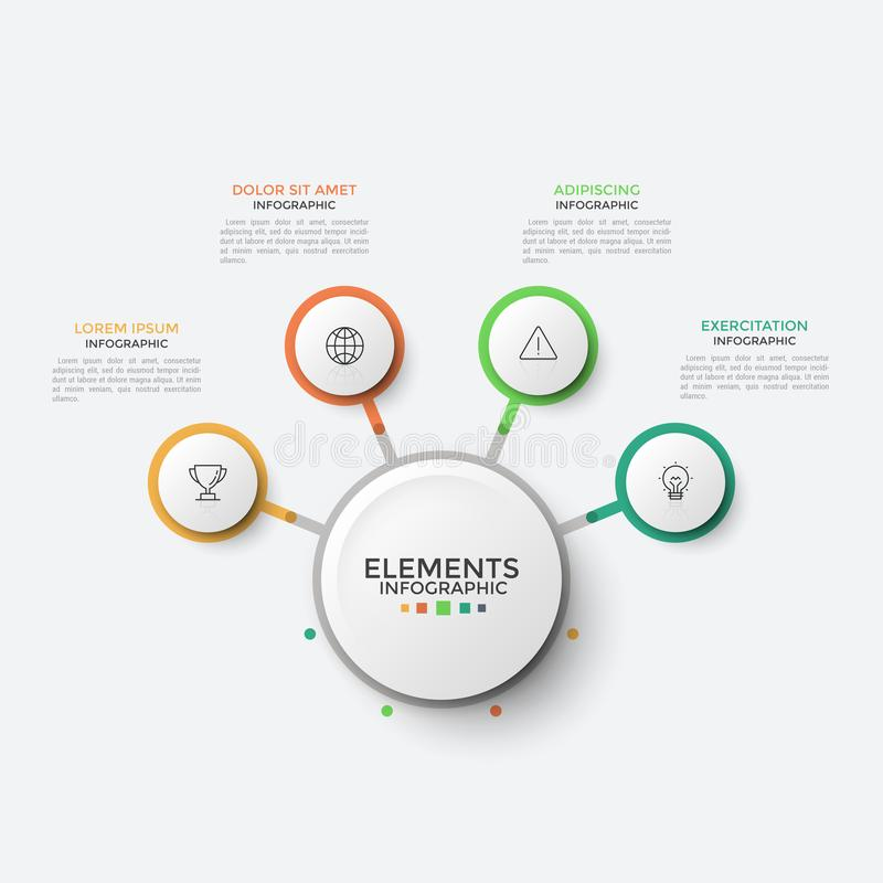 Infographic design template stock illustration