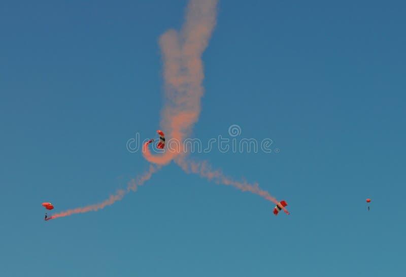 Four Parachutes Stock Image