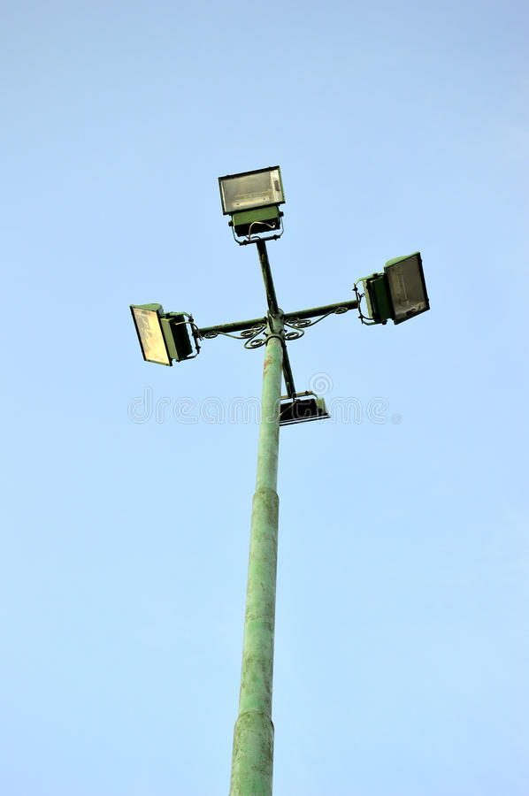 Download Four park light poles stock image. Image of high, outdoors - 34439811