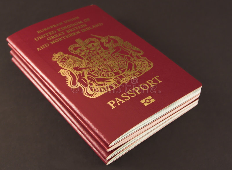 Four passports royalty free stock photography