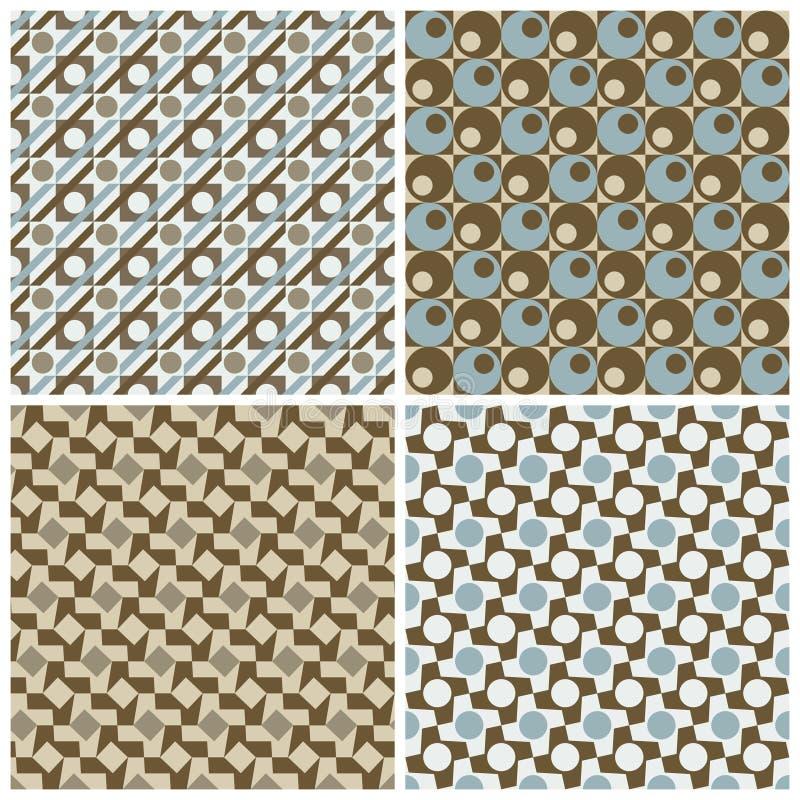 four patterns retro διανυσματική απεικόνιση