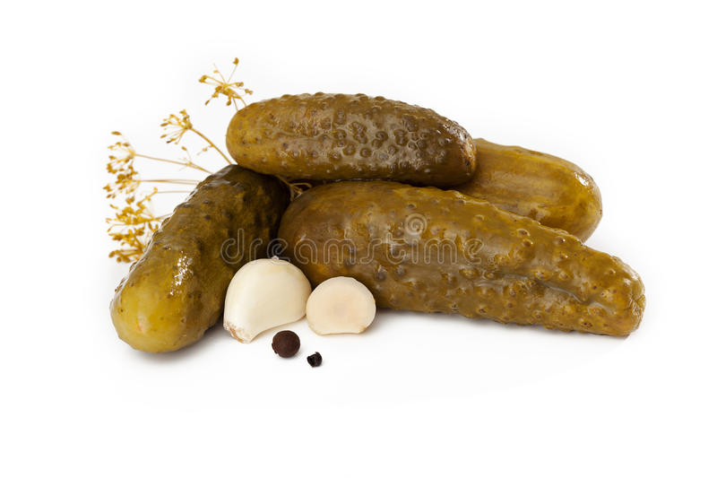 Four pickles stock image