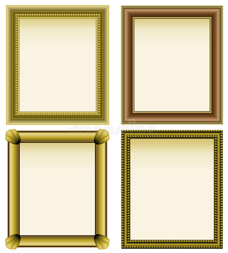 Download Four picture frames stock vector. Image of rectangular - 14949638