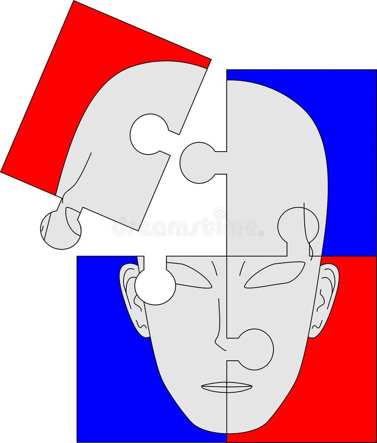 Download Four-piece puzzle stock vector. Image of purpose, psychology - 16891938