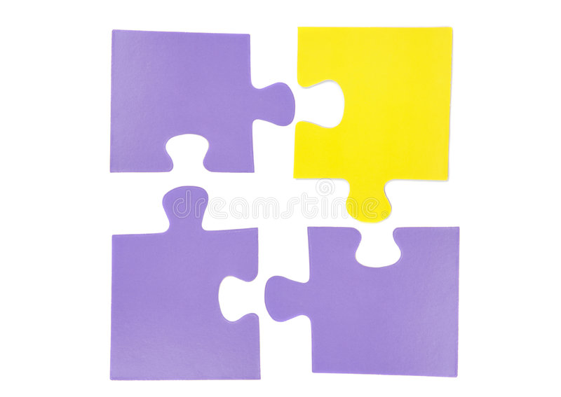 Download Four pieces of puzzle stock photo. Image of isolation - 8677940