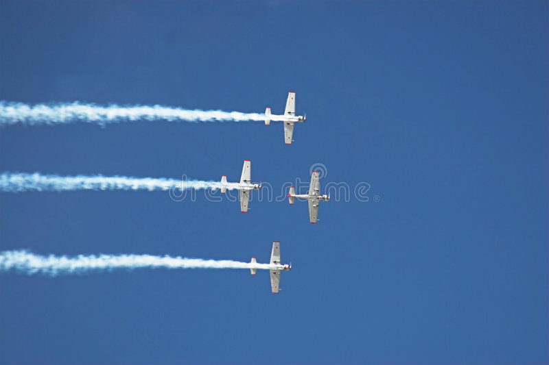 Download Four planes 2 stock image. Image of display, flying, stunt - 172521