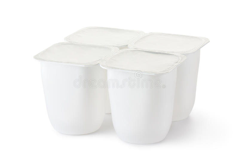 Download Four Plastic Container For Dairy Products Stock Image - Image of plastic, product: 25156981