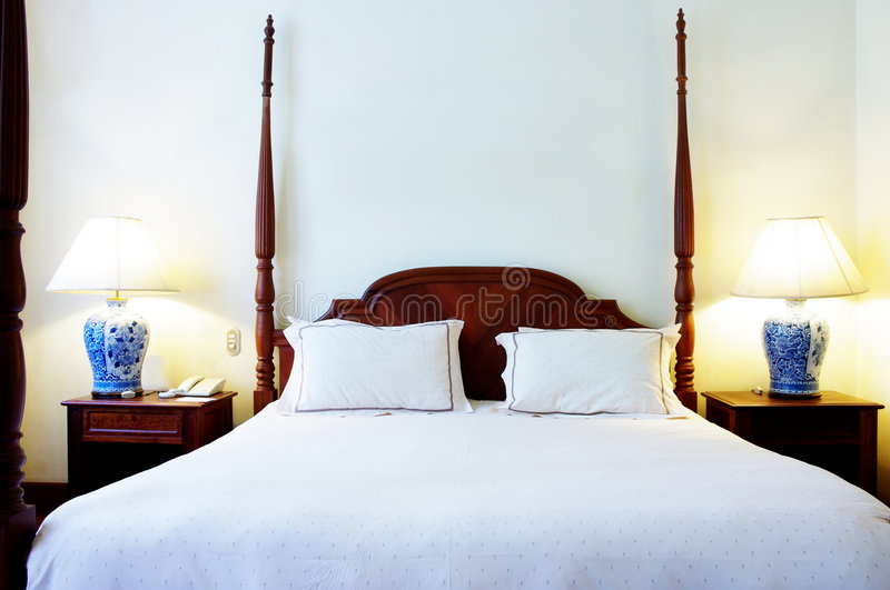 Four post bed royalty free stock photos