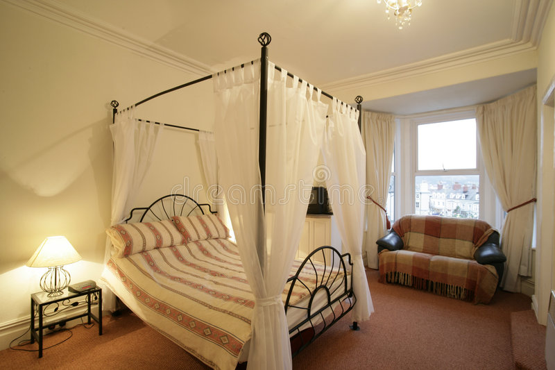 Download Four poster bed stock photo. Image of room, sleep, hotel - 137806