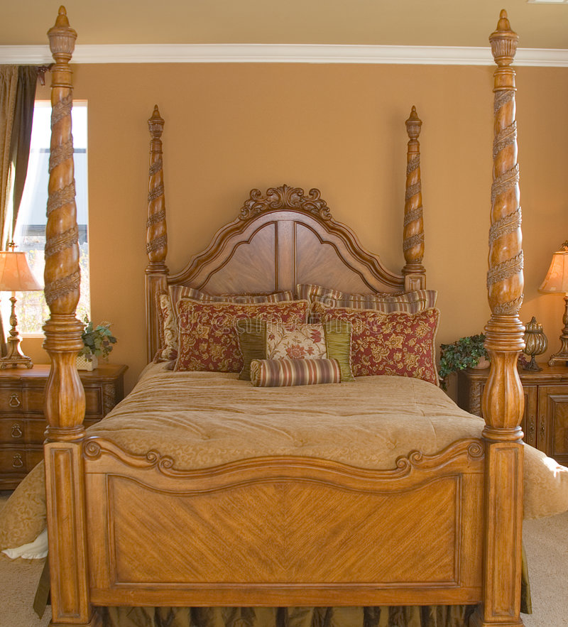 Four Poster Bed stock images