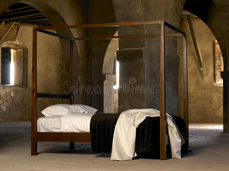 Four poster bed stock image