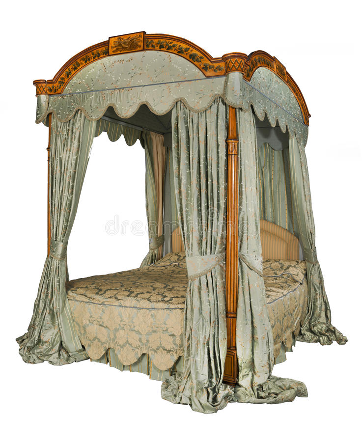Four poster bed with isolated with clip path stock photo for White four post bed