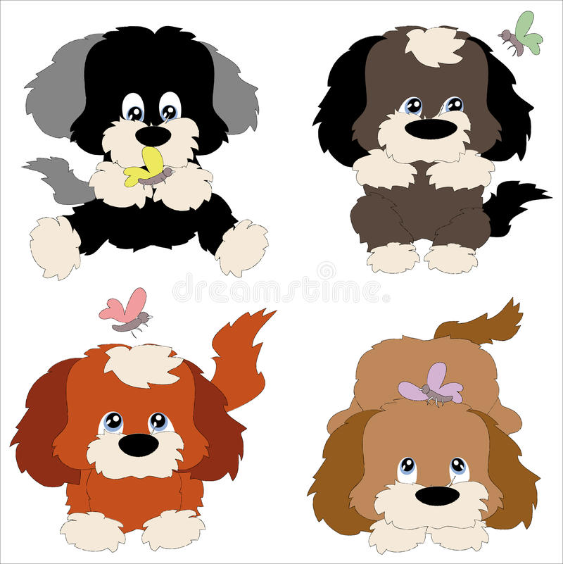 Free Four Puppies Stock Photography - 16654302
