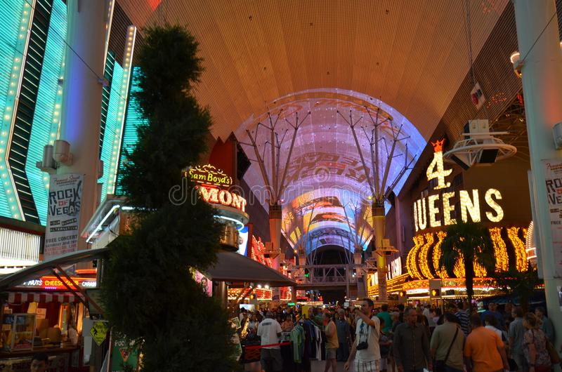 Four Queens, Fremont Hotel and Casino, Fremont Street Experience, landmark, city, public space, bazaar royalty free stock photography