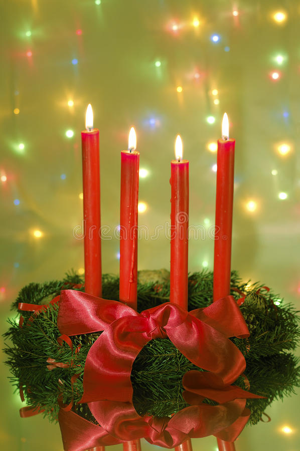 Download Four red candle stock image. Image of lighting, holiday - 22130481