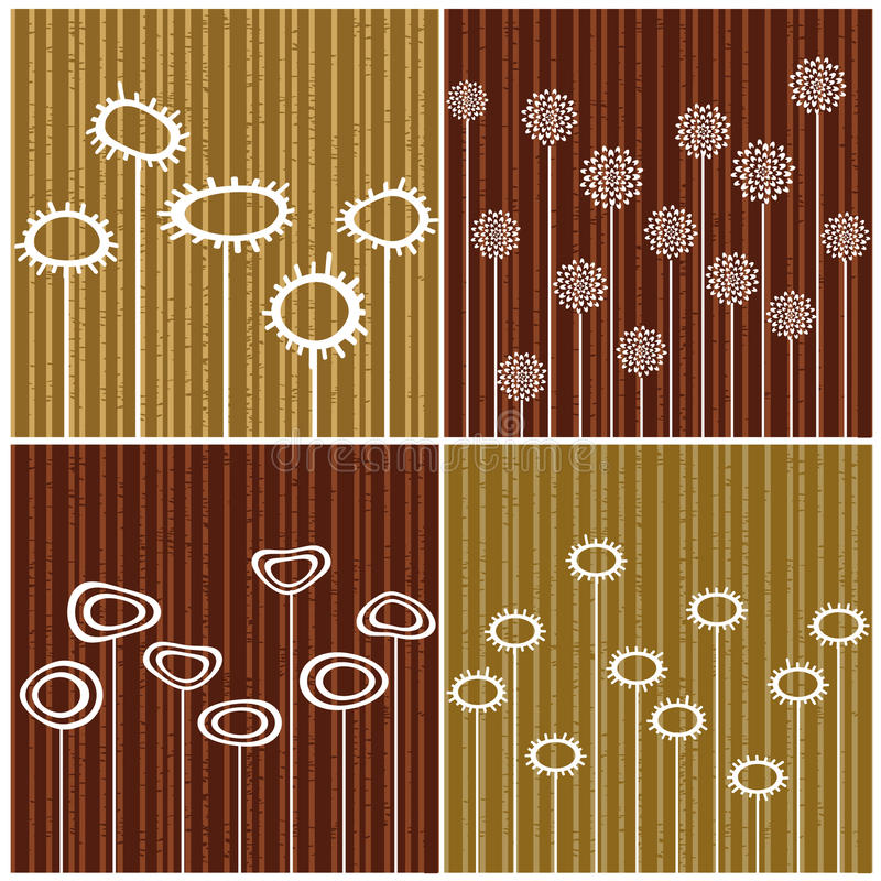 Download Four retro backgrounds stock vector. Illustration of striped - 10700194