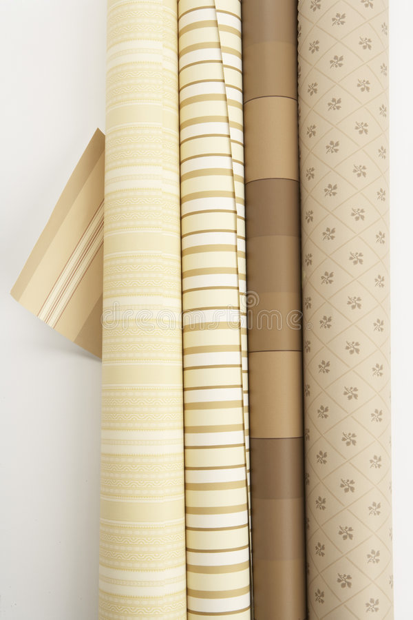 Free Four Rolls Of Wall Paper One Swatch Stock Image - 4846761