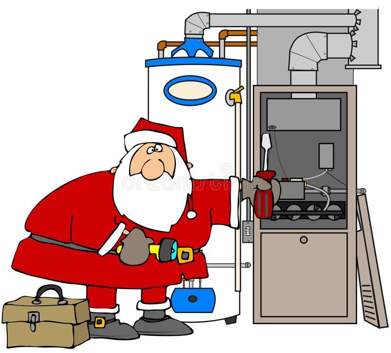 four Santa de fixation illustration de vecteur