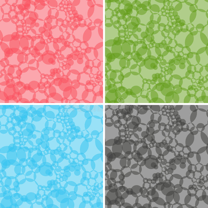 Four seamless abstract vector patterns vector illustration