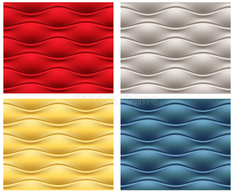 Download Four Seamless Wavy Patterns Stock Vector - Image: 22031740