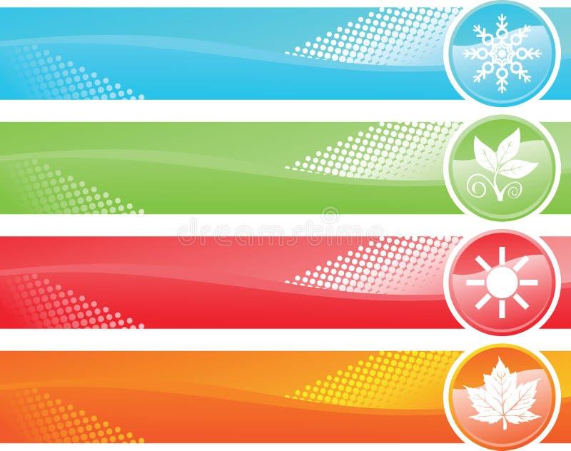 Four Season Banner Stock Photo