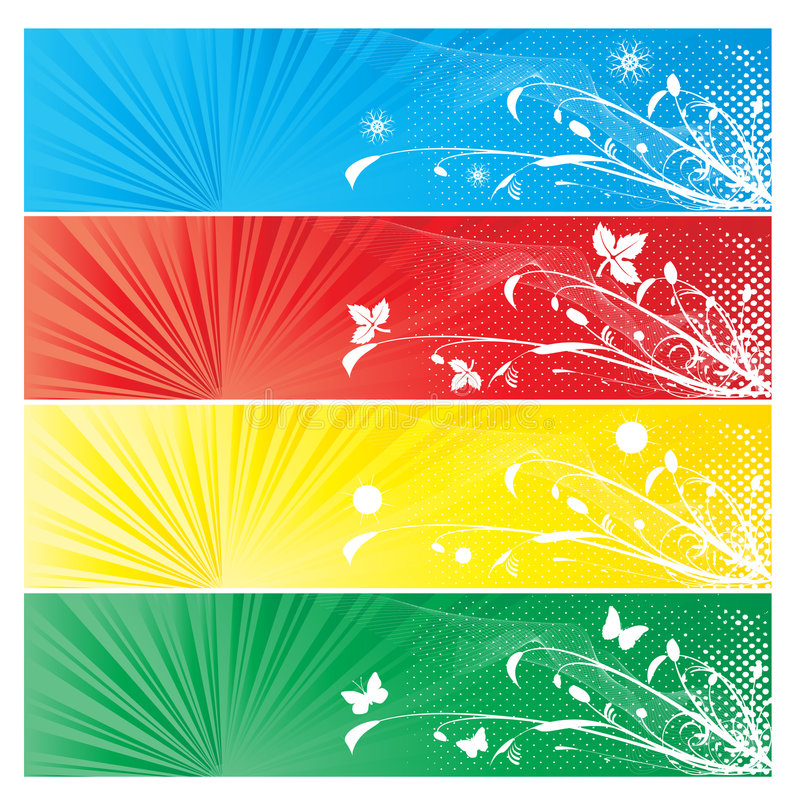 Download Four Season Banner Background Stock Vector - Illustration of floral, background: 7387918