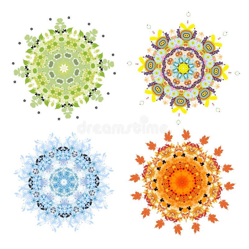 Download Four Season Concept. Arabesque Set For Your Design Stock Vector - Image: 25164214
