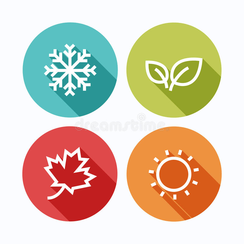 Free Four Season.Vector Illustration. Royalty Free Stock Photography - 60602237