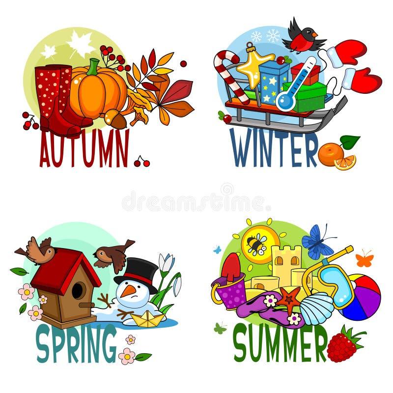 Free Four Seasons. Stock Image - 126738521