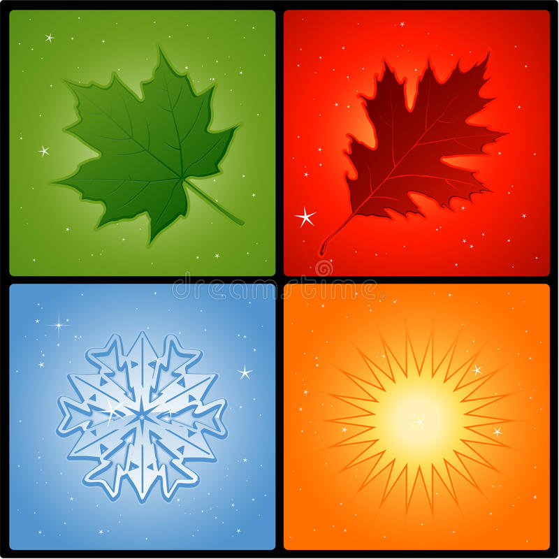 Free Four Seasons Royalty Free Stock Photos - 14535758