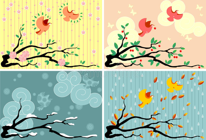 Download Four Seasons stock vector. Illustration of cold, green - 20939677
