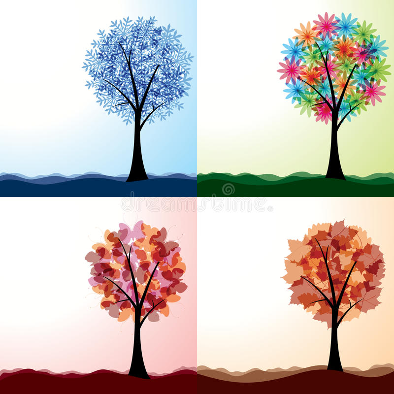 Download Four seasons stock vector. Illustration of christmas - 24565482
