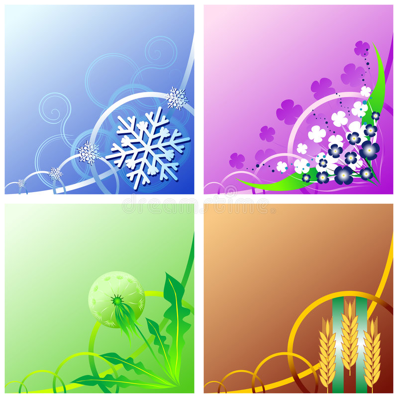 Download Four seasons stock vector. Image of autumn, design, graphic - 3809589