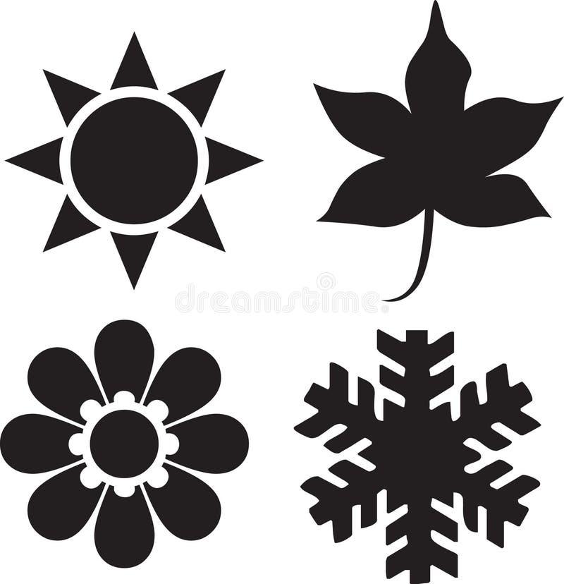 Four Seasons. Illustration of Four Seasons Icons. vector image vector illustration