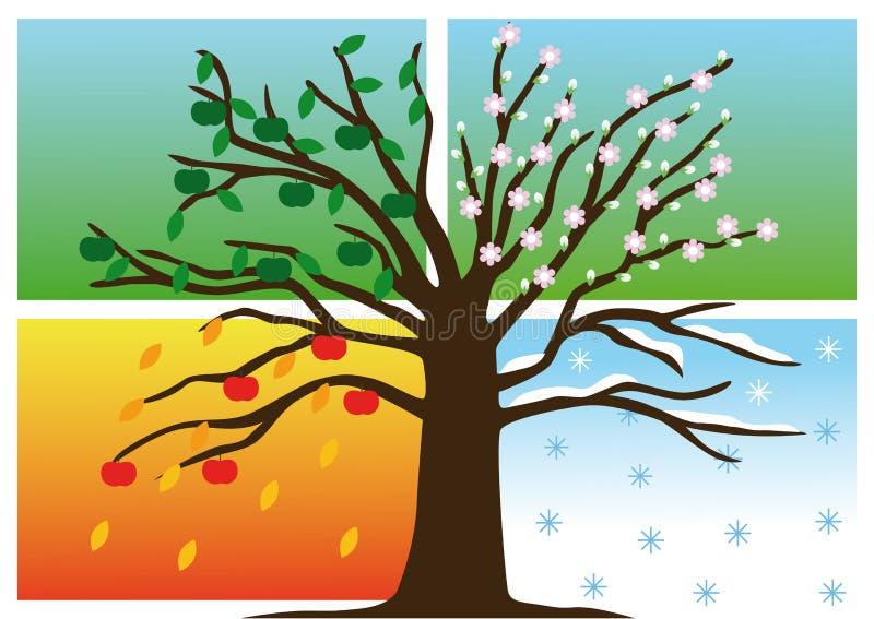 Four Seasons vector illustration