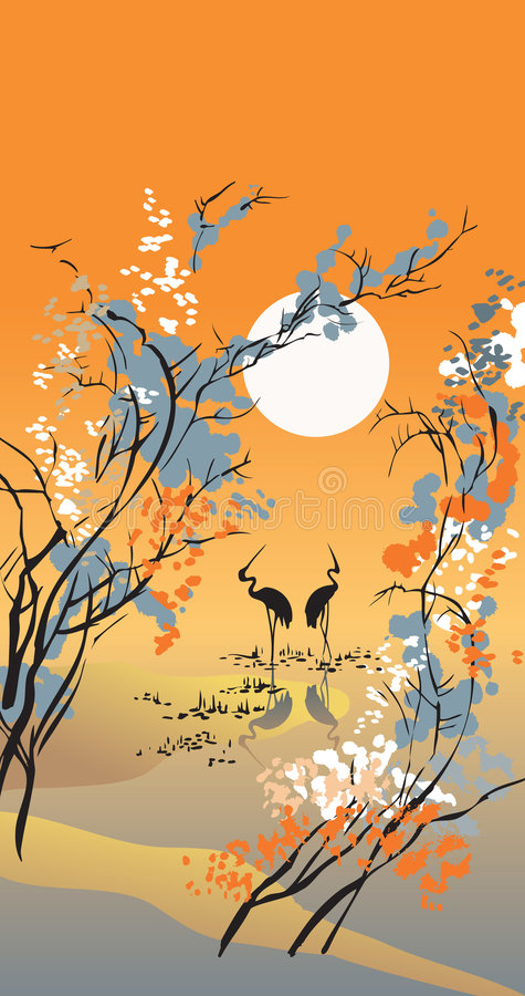 Download Four seasons: autumn stock vector. Image of china, picture - 7914827