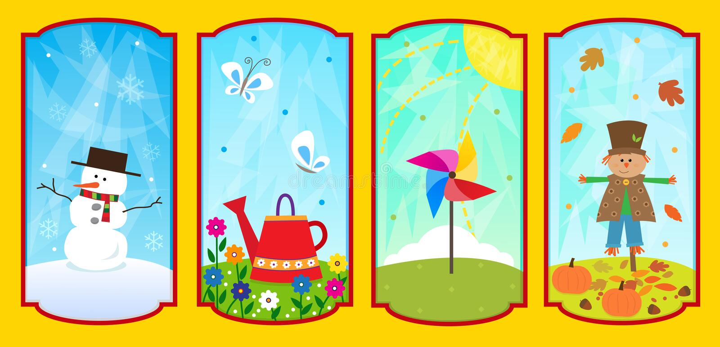 The Four Seasons vector illustration