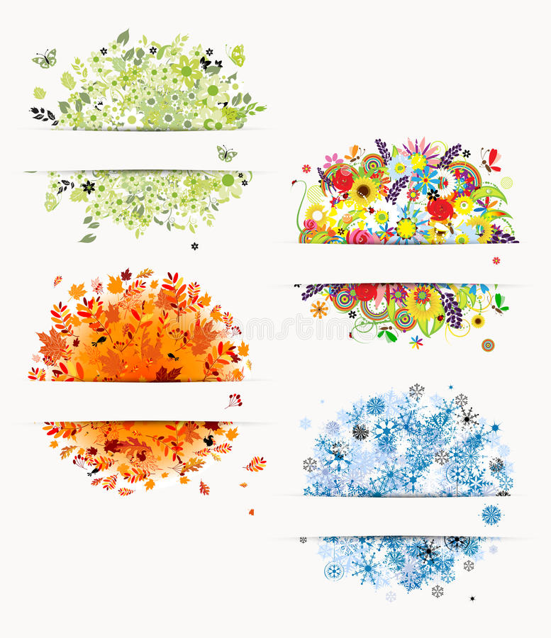 Four seasons design frames stock vector image 25164198 for 4 seasons decoration