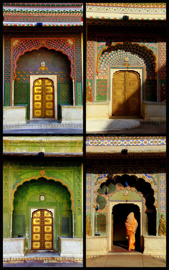 Four seasons doors in Jaipur royalty free stock photo