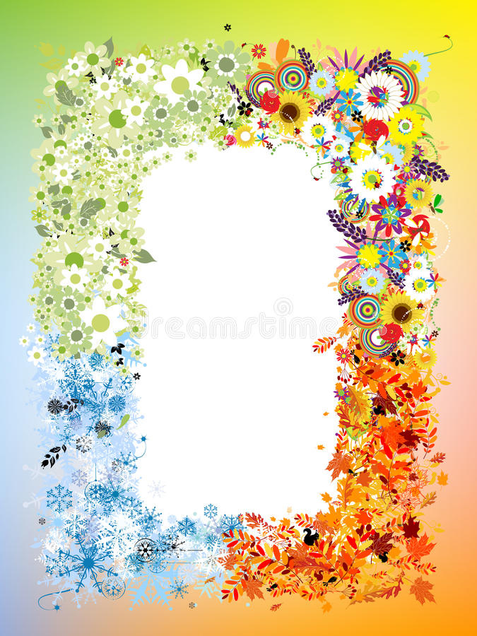 Download Four seasons frame stock vector. Image of environment - 25164209