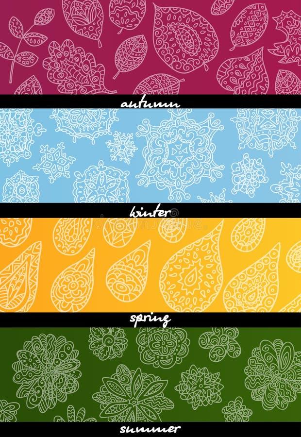 Seasons Wallpaper Stock Illustrations 6646 Seasons