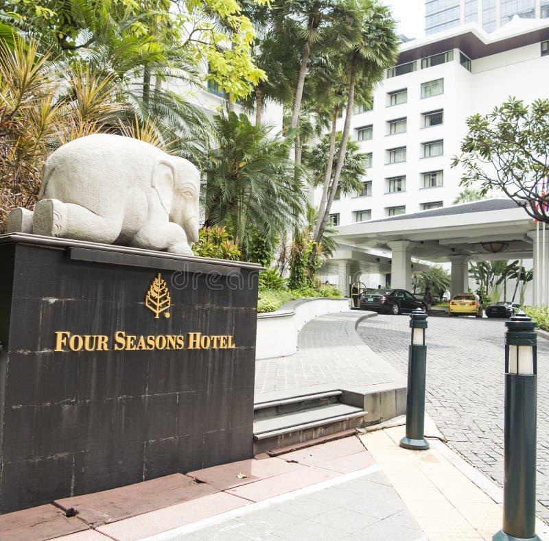 Four Seasons hotel in Bangkok stock photography