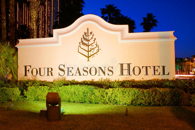 Four Seasons Hotel Las Vegas royalty free stock photos