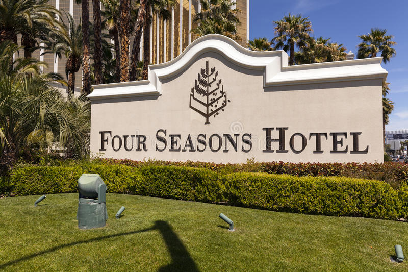 Four Seasons Hotel sing in Las Vegas, NV on April 19, 2013 royalty free stock photos