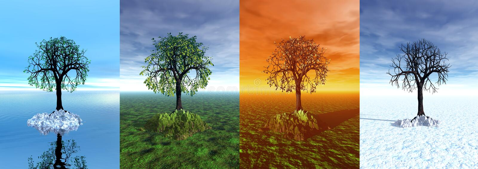 Download Four Seasons. Tree, 3d Graphic Stock Images - Image: 16509734