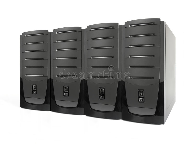 Four servers royalty free stock images