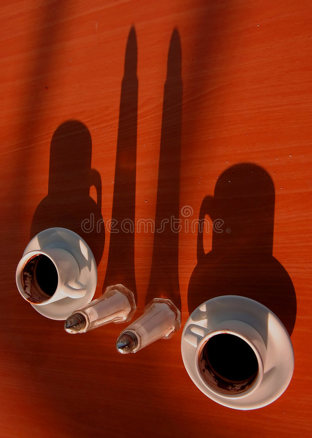 Four shadows royalty free stock photography