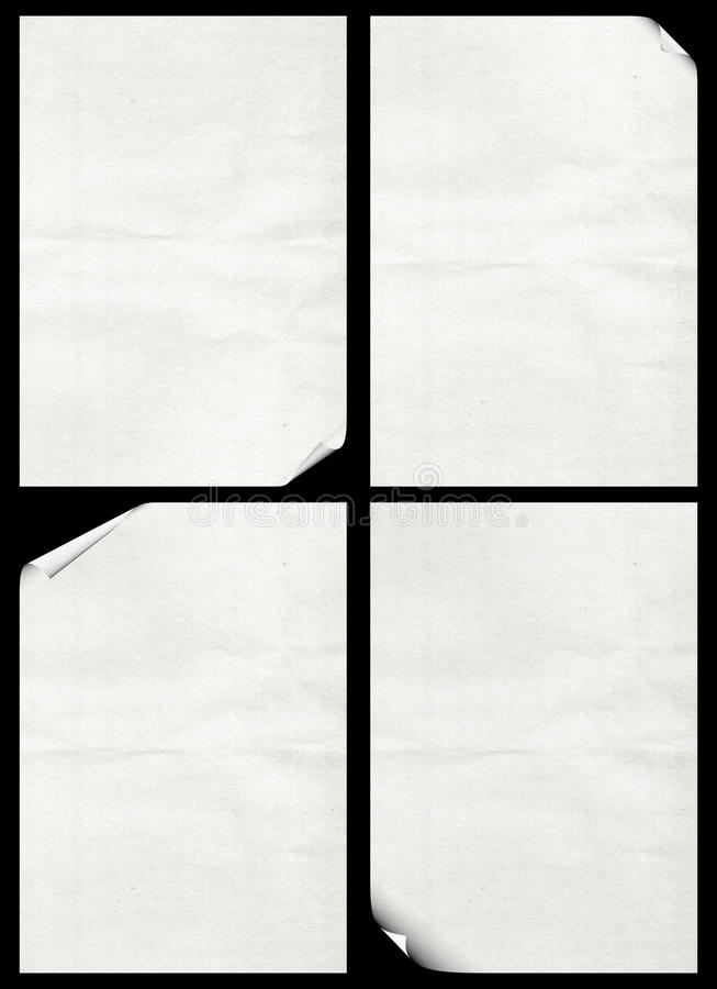 Free Four Sheets Of Paper Royalty Free Stock Photo - 17325275