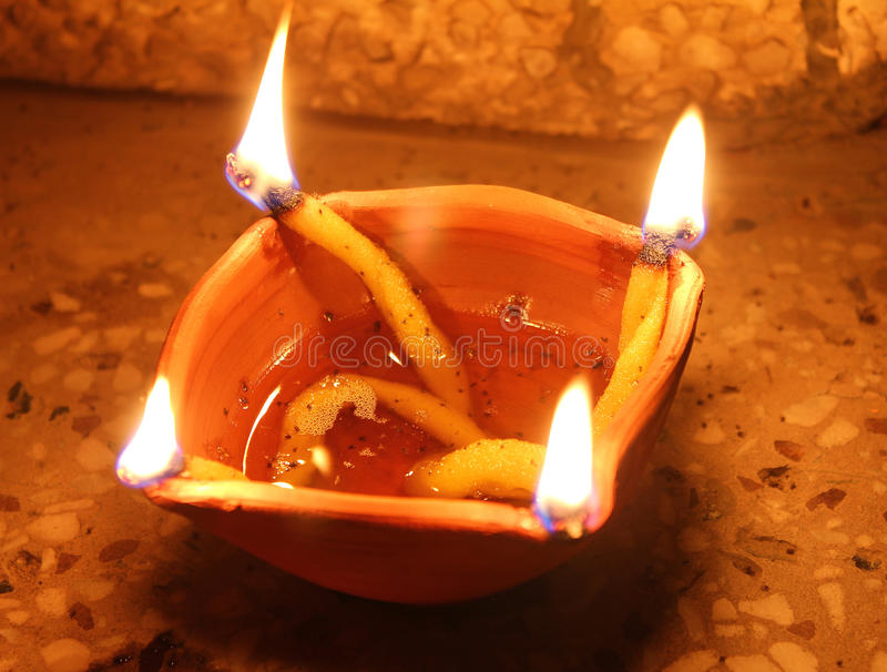 Download Four side oil lamp stock image. Image of deepavali, culture - 21501611